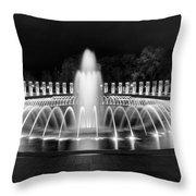 Ww2 Memorial Fountain Throw Pillow