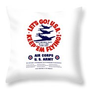 Us Army Air Corps - Ww2 Throw Pillow