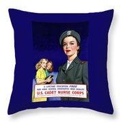 Ww2 Us Cadet Nurse Corps Throw Pillow