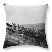 Wwi: French Attack Throw Pillow