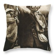 Wwi: Gas Warfare Throw Pillow