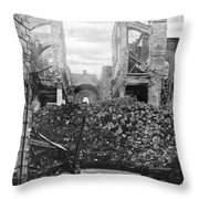 Wwi, Ruins Of Arras Cathedral Throw Pillow