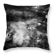 Wwii B-24 Failed Bombing Auschwitz Sept. 13th Throw Pillow