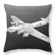 Wwii, Boeing B-17 Flying Fortress, 1940s Throw Pillow