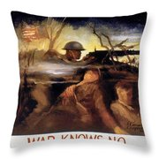Wwii: Color Line Poster Throw Pillow