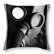 Wwii Gas Mask Throw Pillow