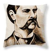 Wyatt Earp Throw Pillow