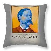 Wyatt Earp Poster Throw Pillow