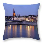 Wyck In Maastricht In The Evening Throw Pillow