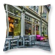 Wyndham Arcade Cafe 3 Throw Pillow