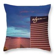 Wynn And Encore In Las Vegas Throw Pillow