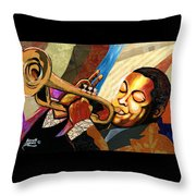 Wynton Marsalis Throw Pillow by Everett Spruill