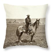 Wyoming: Cowboy, C1883 Throw Pillow