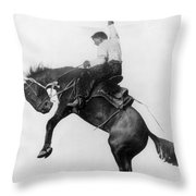 Wyoming: Cowboy, C1911 Throw Pillow