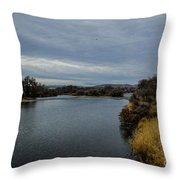 Wyoming Morning River Throw Pillow