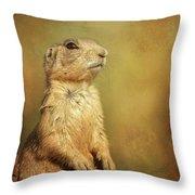 Wyoming Prairie Dog Throw Pillow
