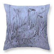 Wyoming Sandhill Cranes Throw Pillow
