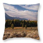 Wyoming Scenery One Throw Pillow