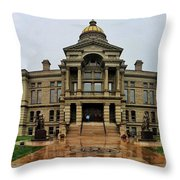 Wyoming State Capital Building  Throw Pillow