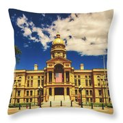 Wyoming State Capitol - Cheyenne Throw Pillow