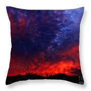 Wyoming Sunset On Fire Throw Pillow