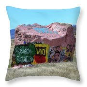 Wyoming Tech Throw Pillow
