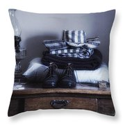 Wyoming Territorial Prison Processing Room Throw Pillow