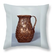 Wyoming Wildflowers Bronze Pitcher Throw Pillow