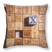 X Blocks Throw Pillow by Scott Norris