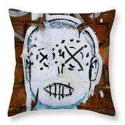 X Eyes Throw Pillow
