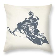 X Games Snowmobile Racing 3 Throw Pillow