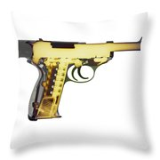X-ray Art Of Walther P38 No. 4 Throw Pillow