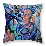 x-Ray Buddha Throw Pillow