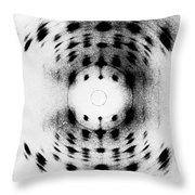 X-ray Diffraction Image Of Dna Throw Pillow