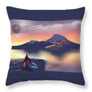 X-wing On The Horizon Throw Pillow