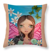 Xenia Fairy Throw Pillow