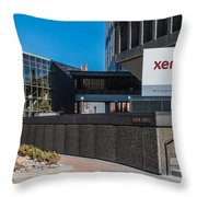 Xerox Tower Entrance Throw Pillow