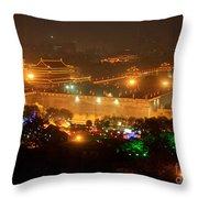 Xian City Lights Throw Pillow