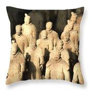 Xian Terracotta Warriors Throw Pillow