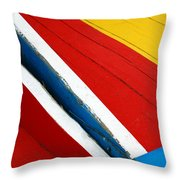 Xochimilco Boat Abstract 1 Throw Pillow