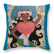 Xochiquetzal Throw Pillow