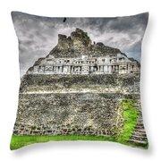 Xunantunich  El Castillo Throw Pillow