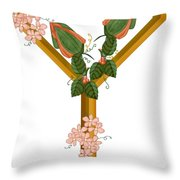 Y Is For Yet To Come Throw Pillow