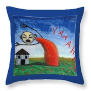 Yaaahhh Throw Pillow