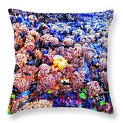 Yachats Oregon - Low Tide Treasures Throw Pillow