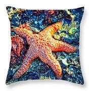 Yachats Oregon - Sea Star Throw Pillow