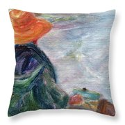 Yachats Painter Throw Pillow