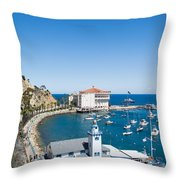 Yacht Club And The Casino Throw Pillow