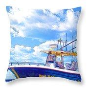 Yacht Throw Pillow