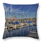 Yachts And Things Throw Pillow